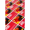 100 x Silk Single Sided Business Cards on 350gsm card