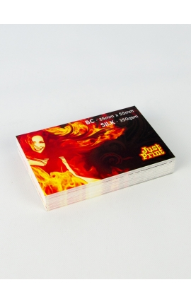 250 x Silk Single Sided Business Cards on 350gsm card