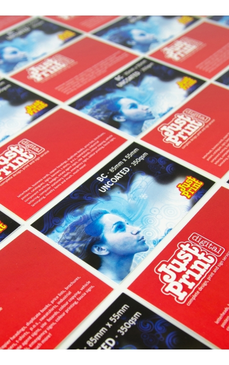 1000 x Uncoated Double Sided Business Cards on 350gsm card