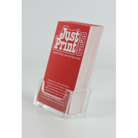 A Set of 2 Portrait Business Card Holders