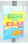"Lamp post Advertising Boards 24 x 16"" (8 pack)"