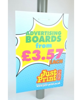 8 Lamp post Advertising Boards 24 x 16