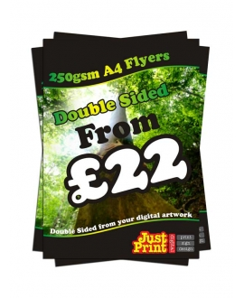 50 A4 Single Sided Flyers on 250gsm