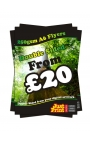 100 A6 Double Sided Leaflets on 250gsm