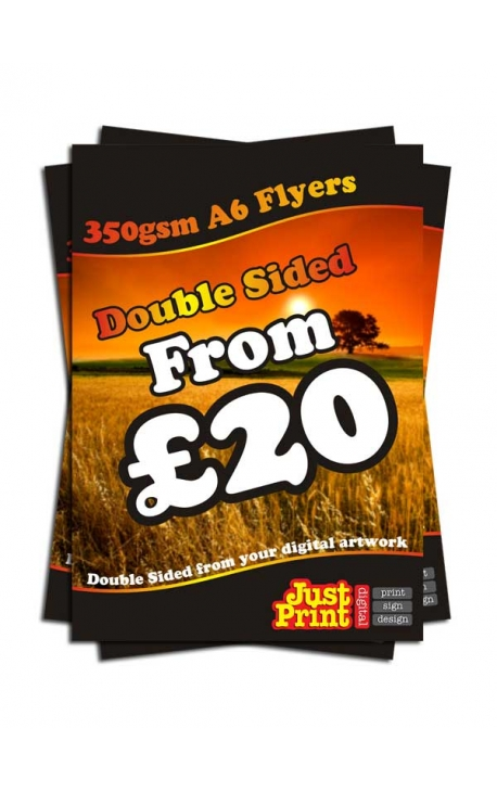 500 A6 Double Sided Flyers on 350gsm