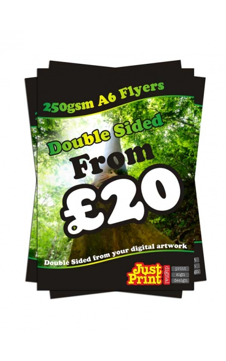 1000 A6 Double Sided Flyers on 250gsm