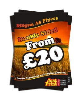 1000 A6 Double Sided Flyers on 350gsm