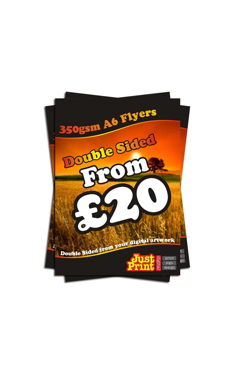 2000 A6 Double Sided Flyers On 350gsm Just Print Digital