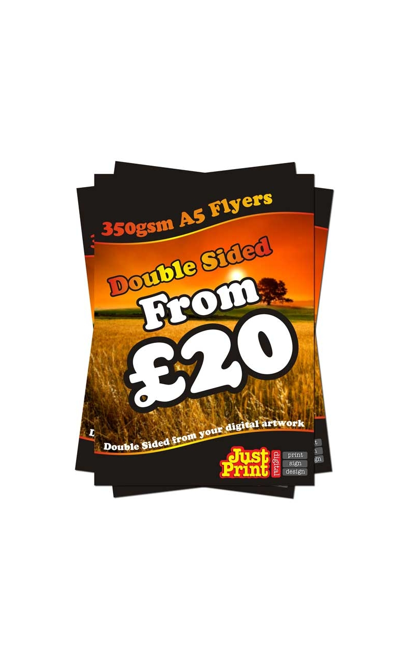 25 double sided a5 flyers on 350gsm just print digital