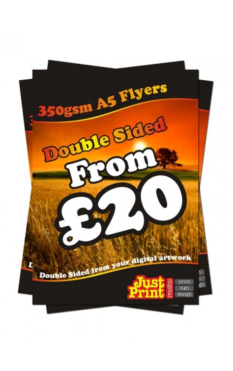 100 A5 Double Sided Leaflets on 350gsm
