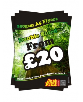 1000 A5 Double Sided Flyers on 250gsm