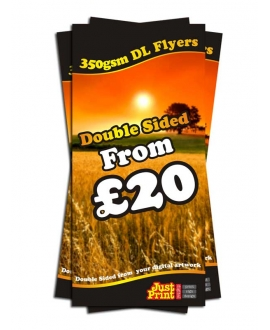 25 Double Sided DL Flyers on 350gsm