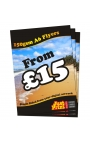 50 A6 Single Sided Flyers on 150gsm