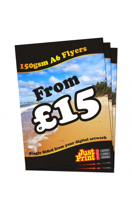 1000 A6 Single Sided Flyers on 150gsm