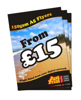 25 A5 single Sided Fliers on 150gsm