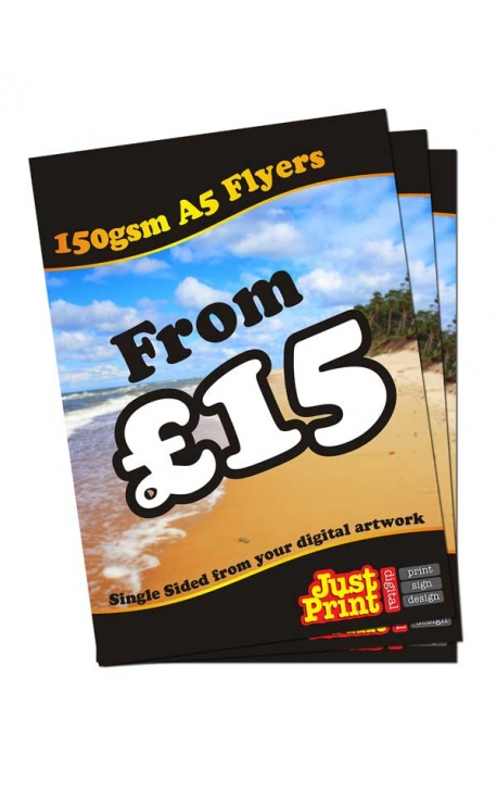 50 A5 single Sided Fliers on 150gsm