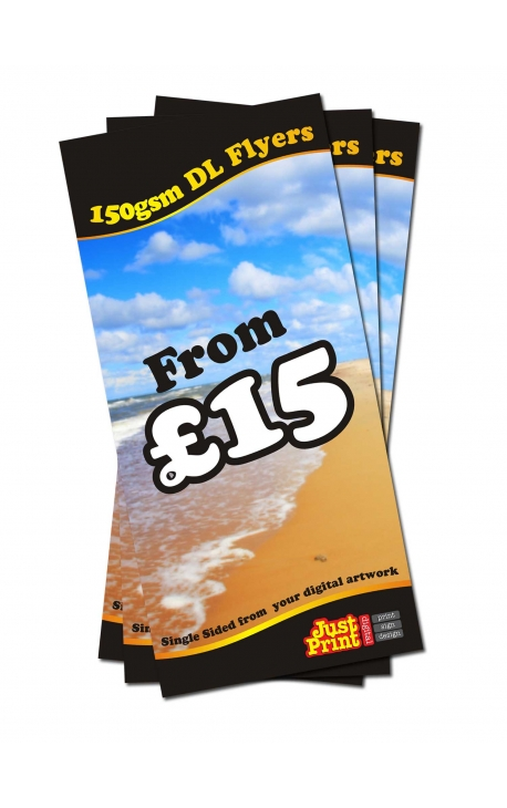 50 DL single sided Flyers on 150gsm