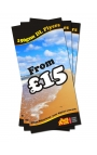 250 DL Single Sided Leaflets on 150gsm