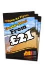 50 A4 Single Sided Flyers on 150gsm