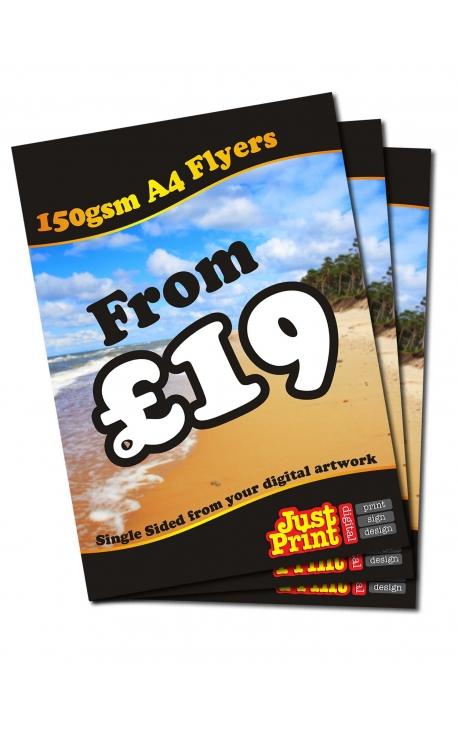 250 A4 Single Sided Leaflets on 150gsm