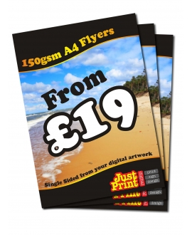 2500 A4 Single Sided Leaflets 150gsm
