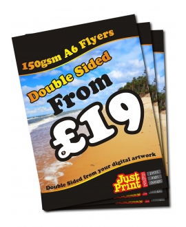 25 Double Sided A6 Flyers on 150gsm
