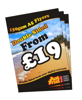 25 Double Sided A5 Flyers on 150gsm
