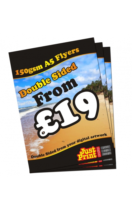 250 A5 Double Sided Leaflets 150gsm