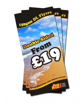 50 Double Sided DL Flyers on 150gsm