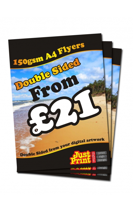 50 A4 Double Sided Flyers on 150gsm