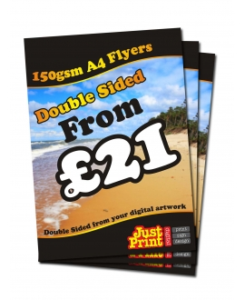 2500 A4 Double Sided Leaflets on 150gsm