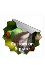 50x50mm Square Stickers Qty 125