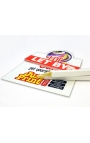 10 Shaped Flag Board, Slip & Post Pack