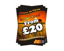 A6 Double Sided 350gsm Flyers
