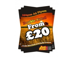 A5 Double Sided 350gsm Leaflets