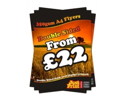 A4 Double Sided 350gsm Flyers