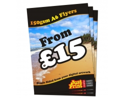 A6 Single Sided 150gsm Flyers