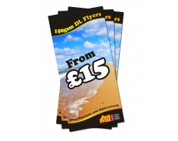 DL Single Sided 150gsm Flyers