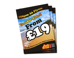 A6 150gsm Double Sided Flyers