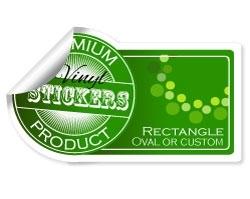 Rectangle, Oval & Custom Sticker