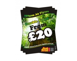 A6 Double Sided 250gsm Flyers